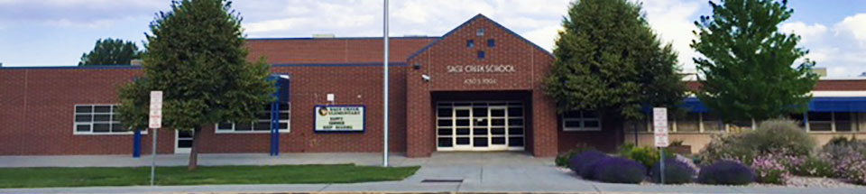 Photo of Sage Creek Elementary School as seen from the front